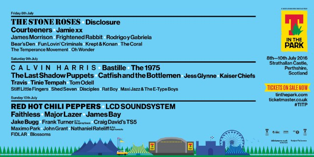 t-in-the-park-2016-lineup