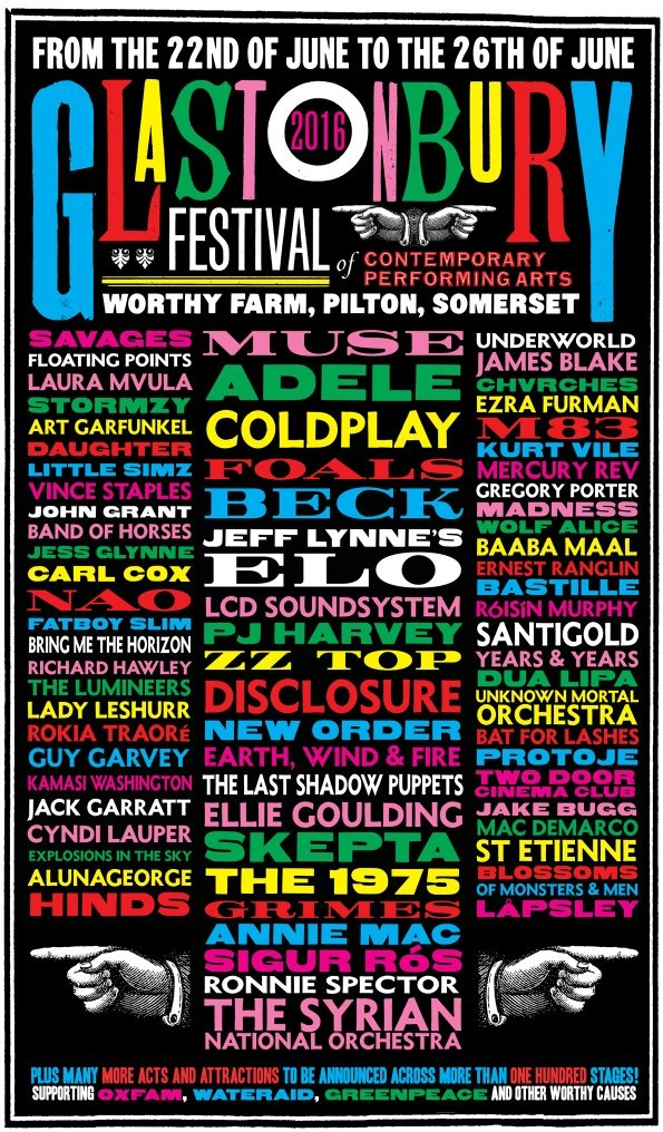 glastonbury lineup 2016