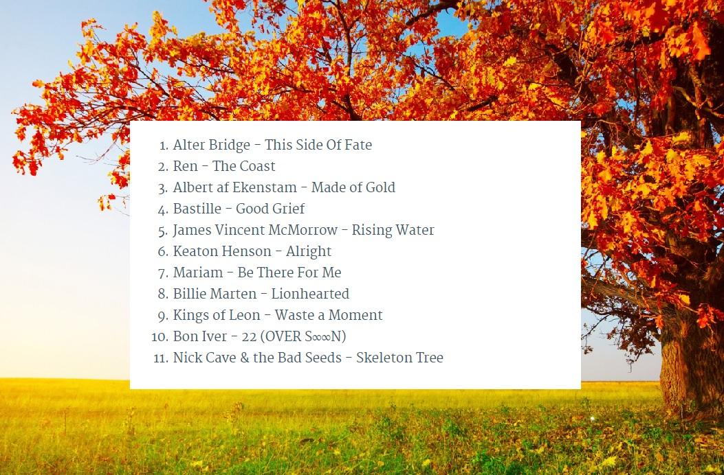 playlist-sept-oct